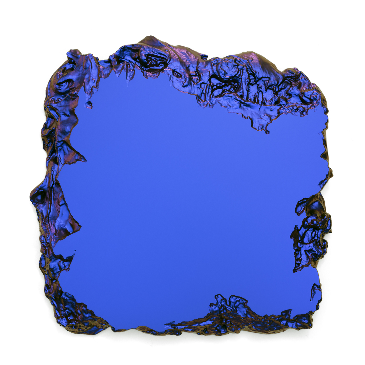 Blue to Red 100x100cm Interference pigment, polyurethan