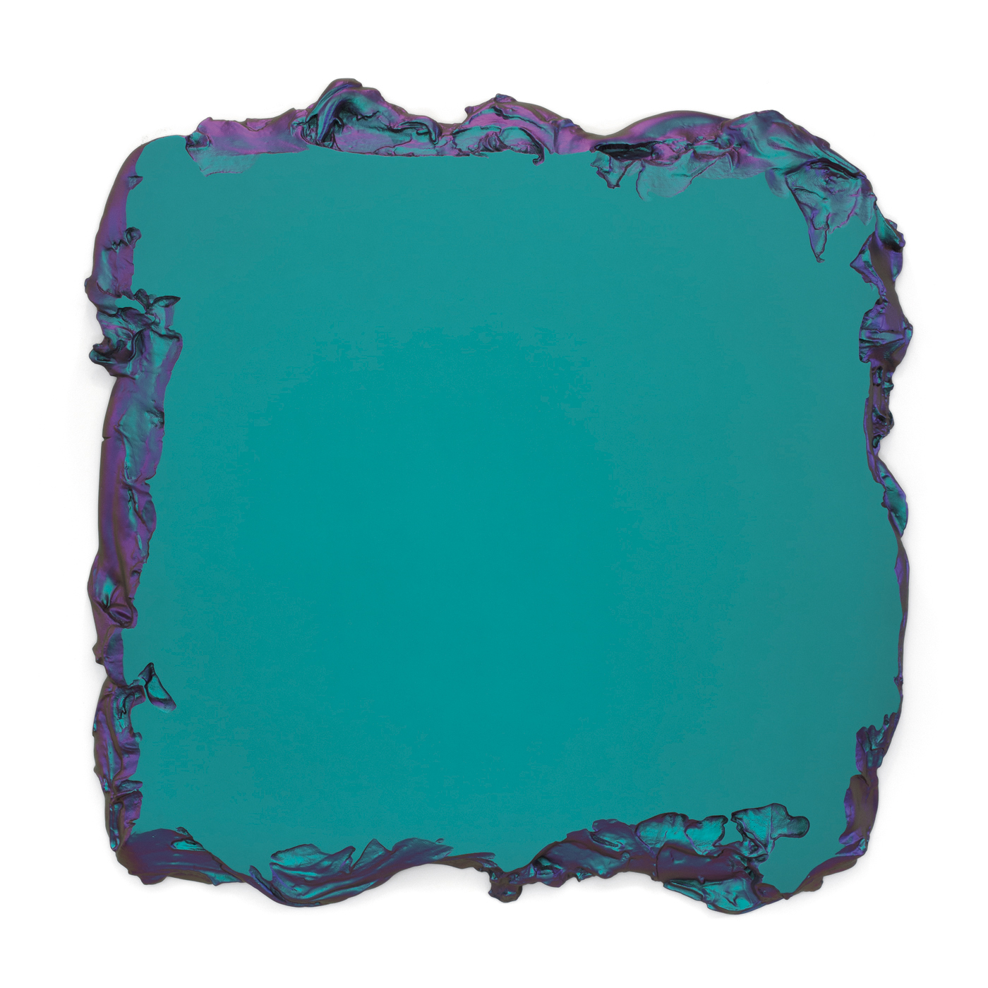 Juri Markkula Green to Lilac 150x150cm Interference pigment, polyurethan