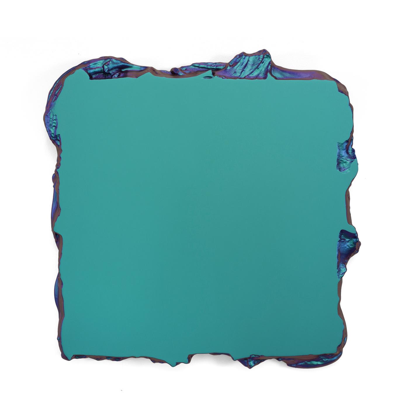Juri Markkula Green to Lilac 50x50cm Interference pigment, polyurethan