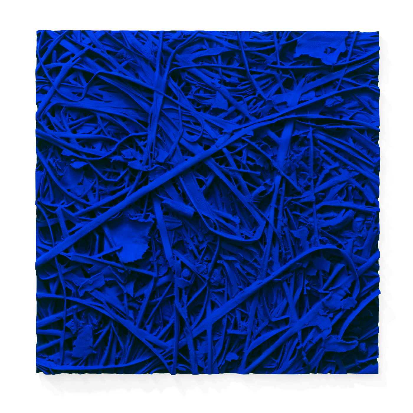 Juri Markkula IKB Grass 100x100cm pigmented polyvinyl, polyurethan 2015