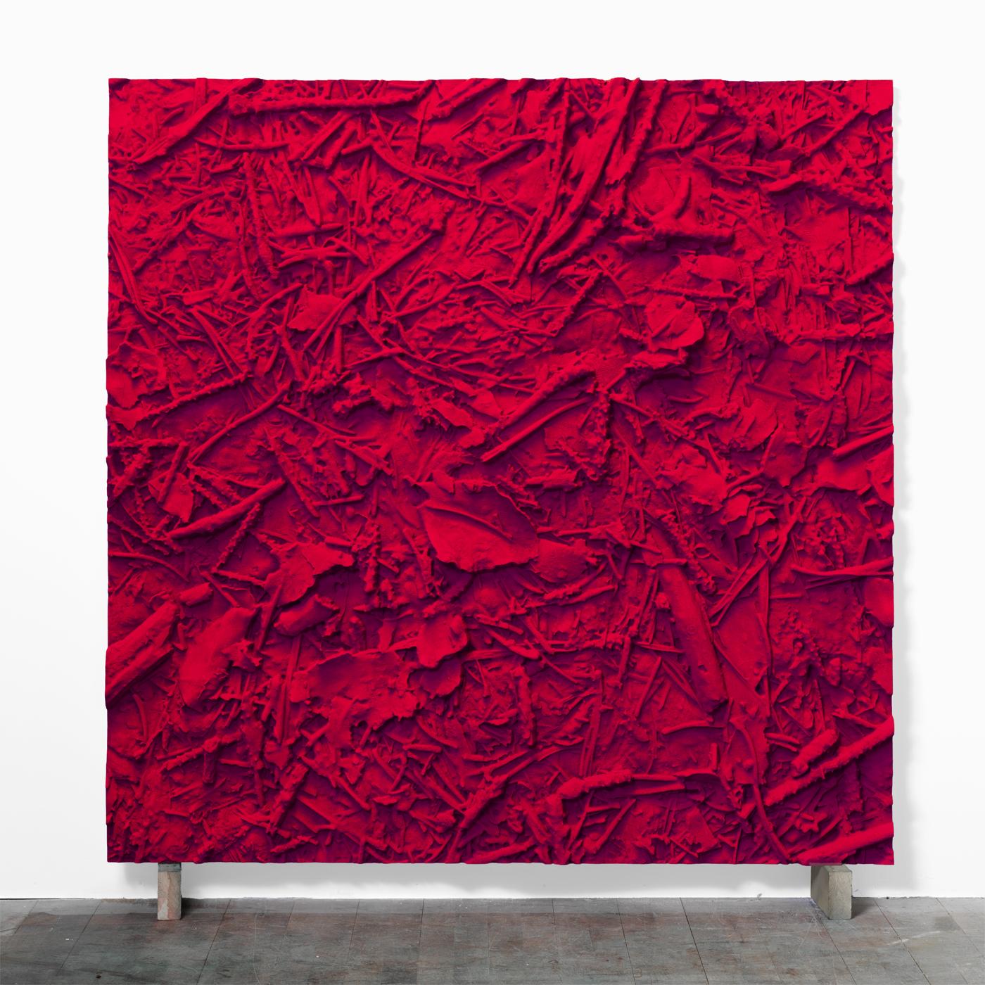 Juri Markkula Naphtol Ground 150x150cm pigmented polyvinyl, polyurethan 2015